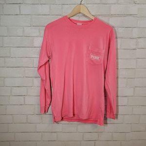 Victoria's Secret pink long sleeve pocket tee